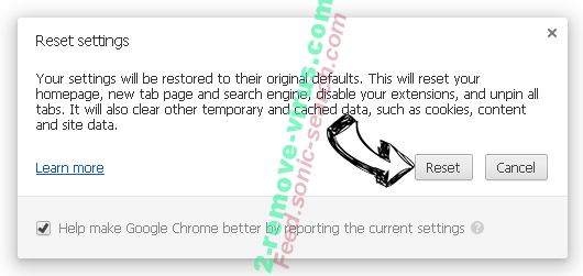 BrowserMe virus Chrome reset