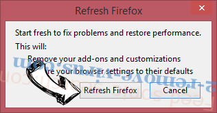 Lucky Search 123 Firefox reset confirm