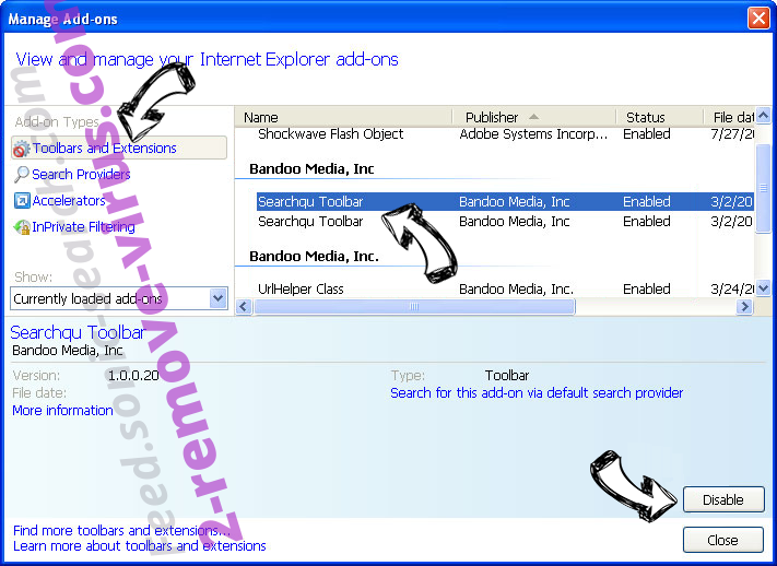 .Micro file virus IE toolbars and extensions