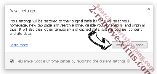 Clean My Chrome Virus Chrome reset