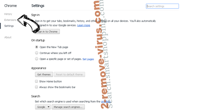 Clean My Chrome Virus Chrome settings