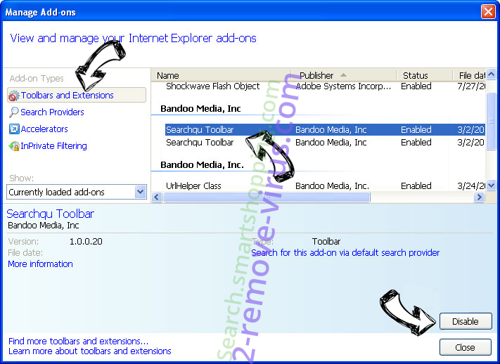 Browserhome.net Redirect Virus IE toolbars and extensions