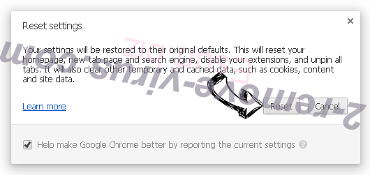 Esurf.biz Chrome reset