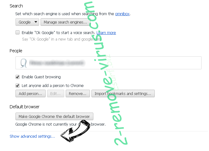 Mywebfinding.com Chrome settings more