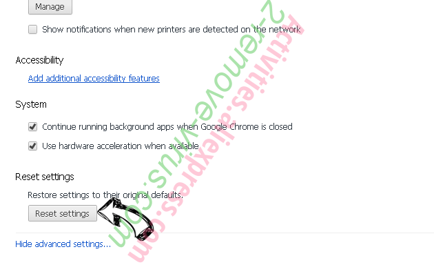 Webunstop Adware Chrome advanced menu