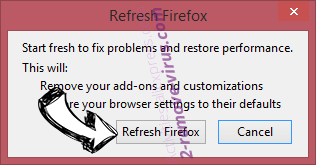 My Lucky123 virus Firefox reset confirm