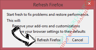 Search.chedot.com Firefox reset confirm