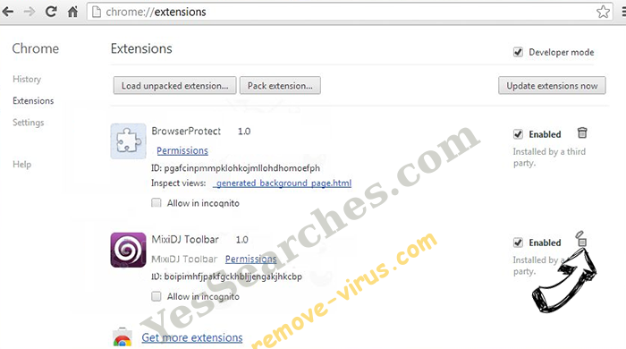 Mobogenie Chrome extensions remove