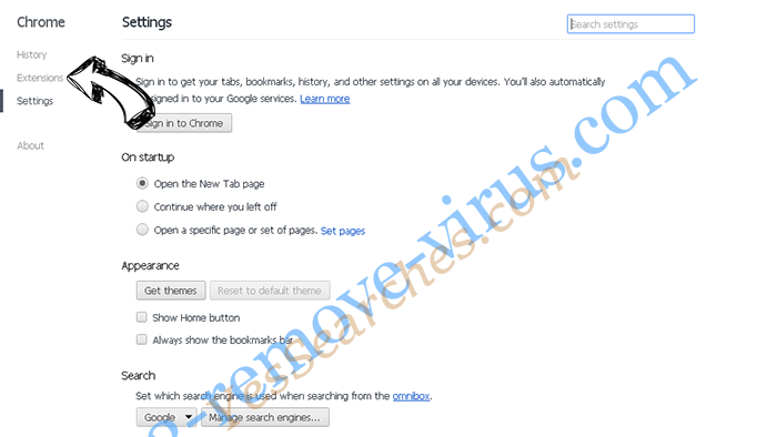Client.foxydeal.com Virus Chrome settings