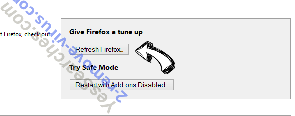Cleanervirus.club Firefox reset