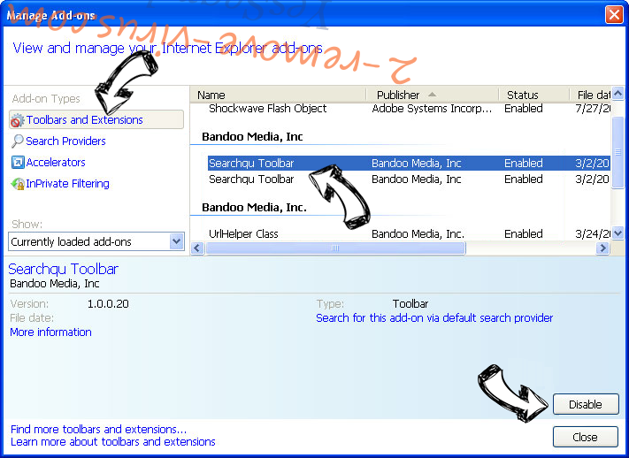 Client.foxydeal.com Virus IE toolbars and extensions
