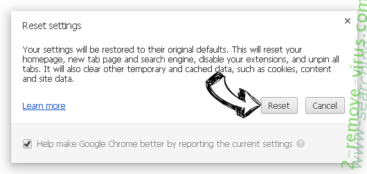 Www-searching.com entfernen Chrome reset
