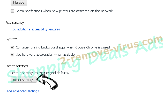 Groover Ads Chrome advanced menu