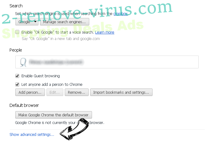 Groover Ads Chrome settings more