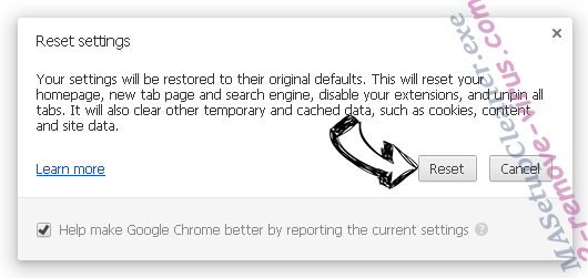 Удаление Newnext.me nengine.dll Chrome reset