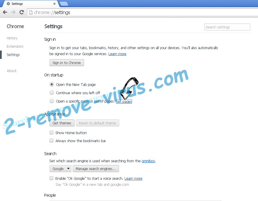 Search.myclassifiedsxp.com Chrome settings