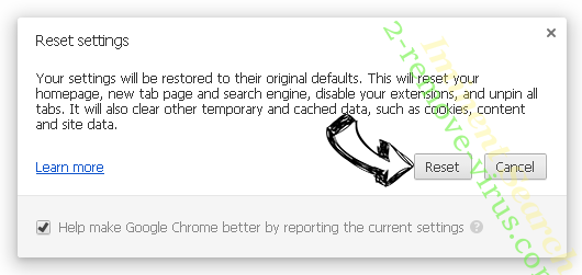 Palikan Search Chrome reset
