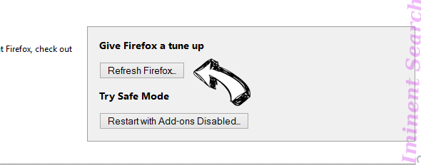 Iminent Search Firefox reset