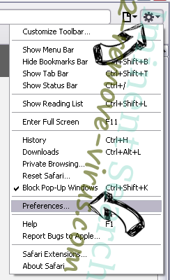 Lrcnta.exe Safari menu