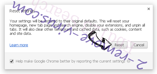 Supprimer Discover Treasure Chrome reset