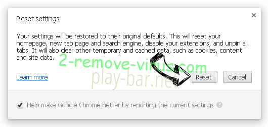 Eliminar Surfvox.com Chrome reset