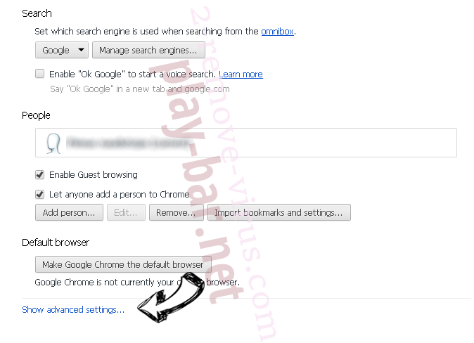 Search.yourinstantsocialhub.com Chrome settings more