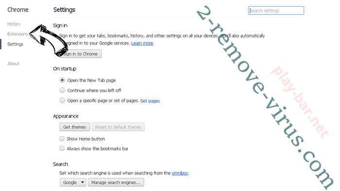 Eliminar Surfvox.com Chrome settings