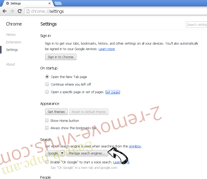 Search.mpc.am Chrome extensions disable