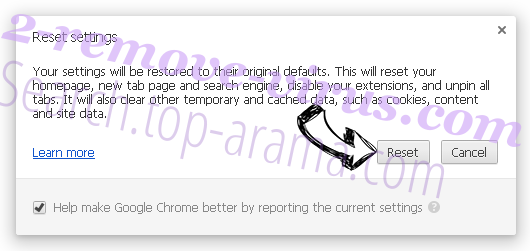 Search.top-arama.com Chrome reset