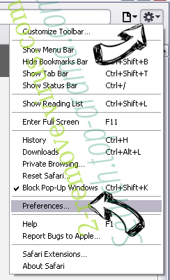 Play-bar.net Safari menu