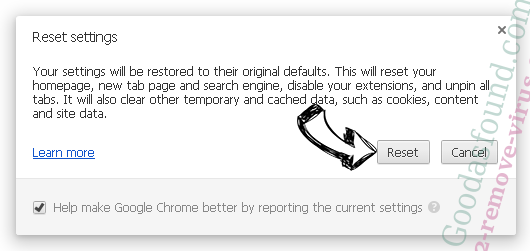 Goodasfound.com Chrome reset