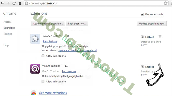 FreeShoppingTool Virus Chrome extensions remove