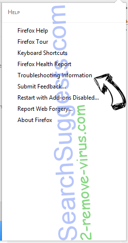 SearchSuggests.com Firefox troubleshooting