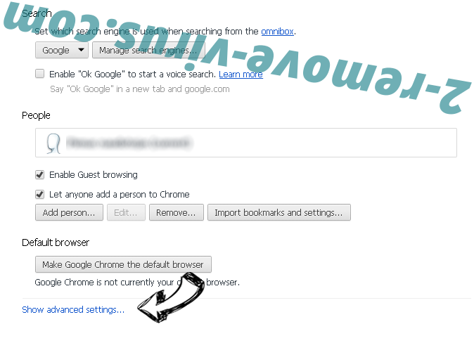 TechAgent Chrome settings more