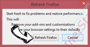 You need to update your media player pop-up Firefox reset confirm