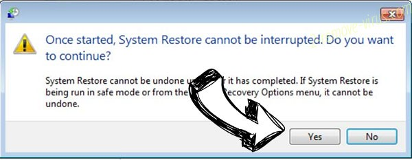 Venis Locker Virus removal - restore message