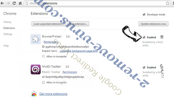 AplusGamer Toolbar entfernen Chrome extensions disable