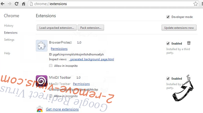 Search.parazipper.com Chrome extensions remove