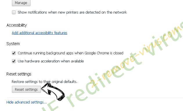 IE redirect virus Chrome advanced menu