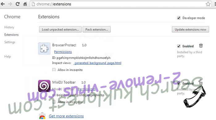 ByteFence Redirect Chrome extensions remove