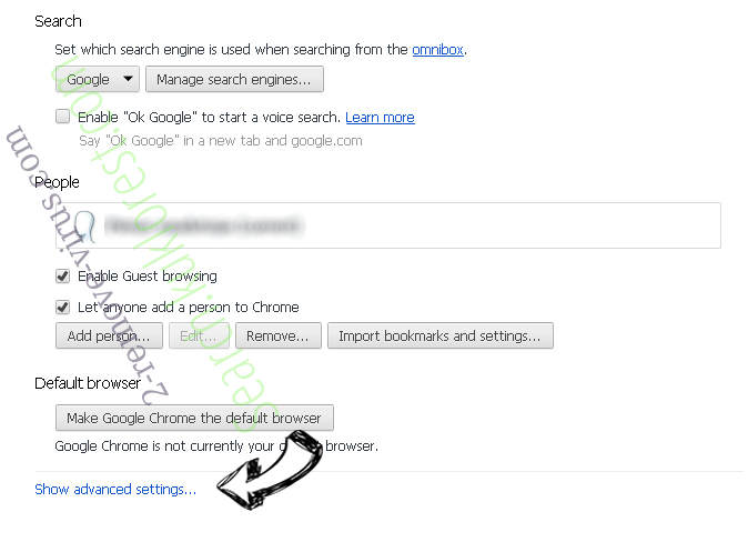 Additionalsearch.co.uk Chrome settings more