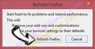 eFast Browser Ads Firefox reset confirm