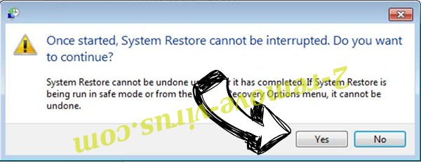 Cerber virus removal - restore message