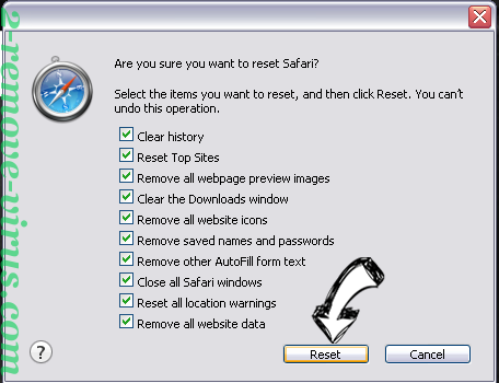 Search.websafefinder.com Safari reset