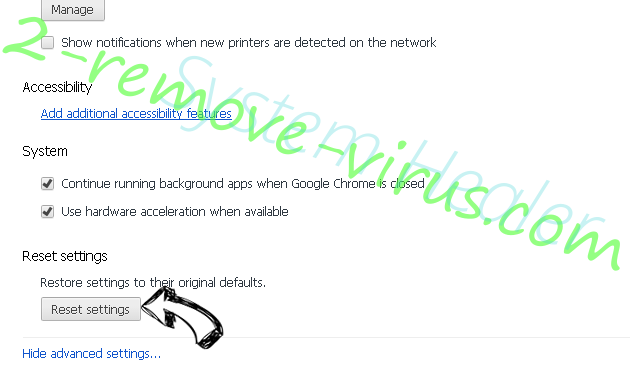 Lookineo.com - wie entfernen? Chrome advanced menu