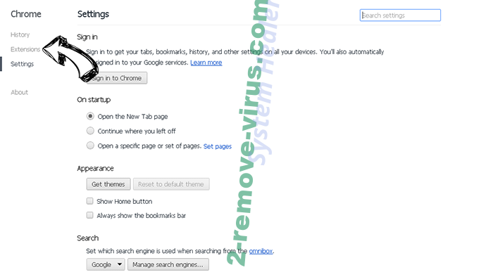 Letssearch.com Chrome settings