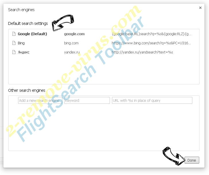 FlightSearch Toolbar Chrome extensions disable