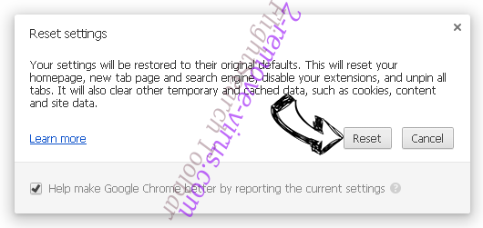 SpringFiles Adware Chrome reset