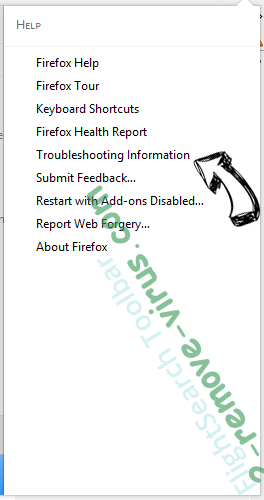 Rimuovere Websearch.coolfindings.info Firefox troubleshooting