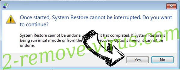 Rotor ransomware virus removal - restore message